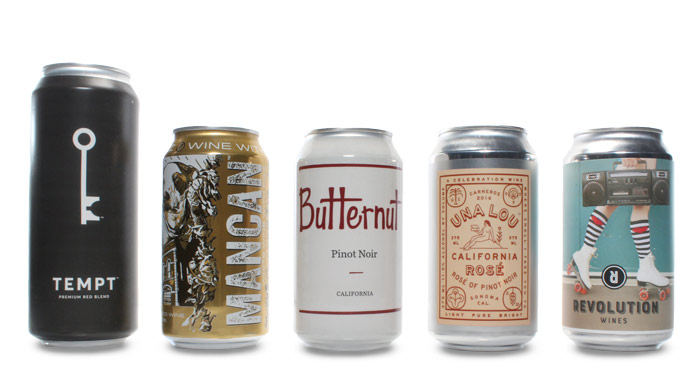 Craft beer can display with white background